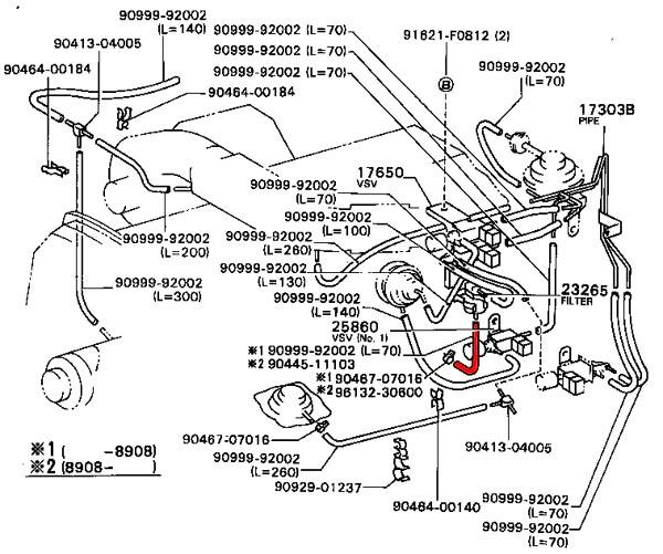 1995 toyota 4runner heater hose diagram  1995  free engine